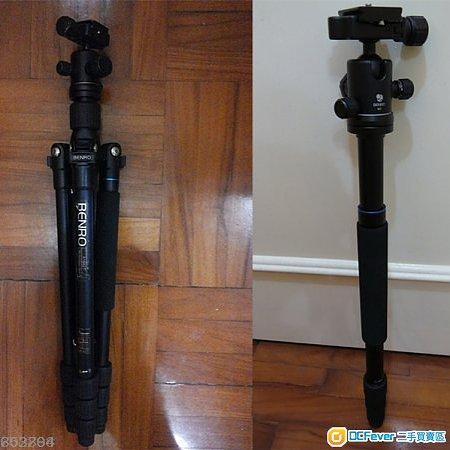 百諾BENRO 三腳架套裝 反折 登山杖 A1682TB0