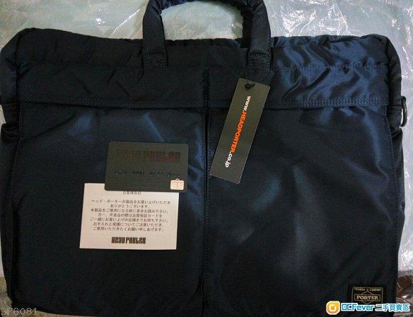100%new Head Porter Brief Case Navy 色Brief Case 公事袋