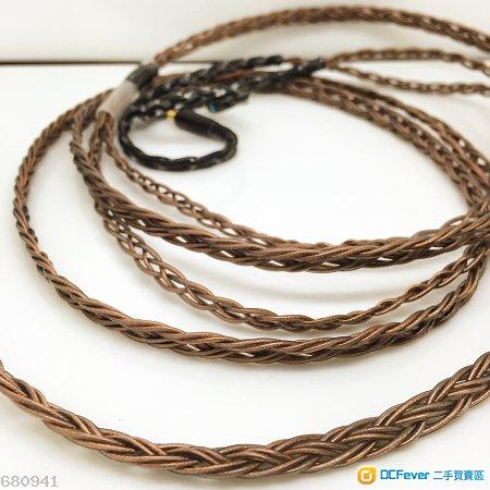 [再升級旗艦級] 澳洲 Coppercraft 單晶銅 8絞漆皮透明啡色版 Shure升級線 se535 215 ue900 westone