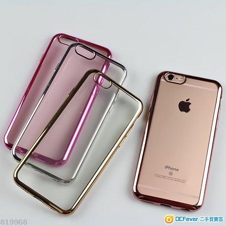 iPhone 6 / 7 Plus 透明電鍍邊膠套   ( 包郵)