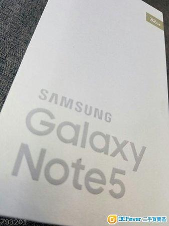 【全新未開封】Samsung Galaxy Note5 N9200 Dual Sim (32GB,金/銀/粉,港版,有單據,有保養,未開封)