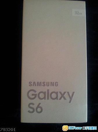 【全新未開封】Samsung Galaxy S6 G9200 (32GB,雙卡,黑色,港版,有單據,有保養,未開封)