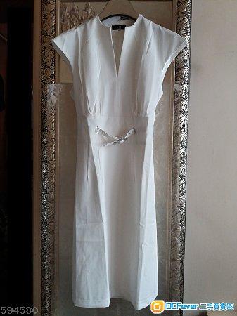 White Elegant Wear to Work Formal  Dress