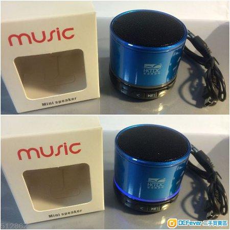 (100%新) MUSIC 藍牙Bluetooth迷你USB喇叭