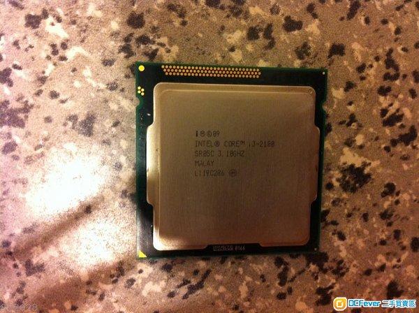 lntel i3 2100 CPU @ 3.10GHz LGA1155 +原裝風扇一把