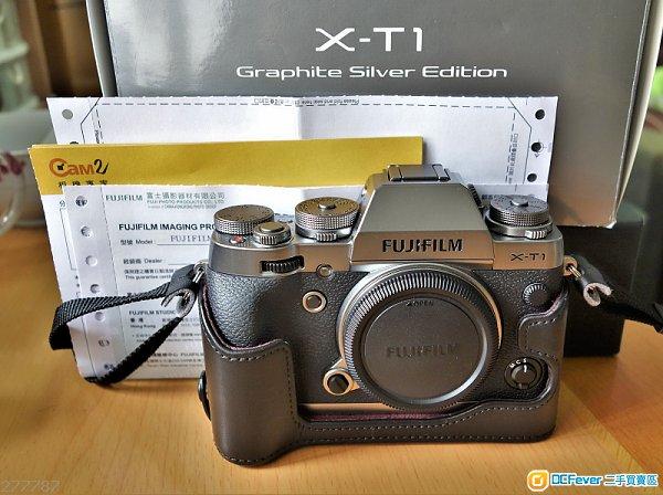 Fujifilm X-T1 Silver 行貨連原廠皮套 BLC-XT1