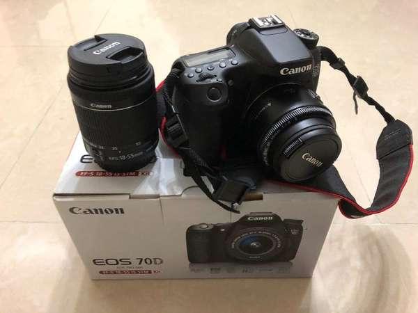Canon 70d kit set + 50mm 1.8 2代