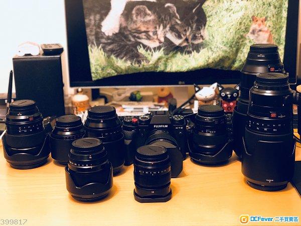 Fujifilm X-T2 + 10 Lens 全套
