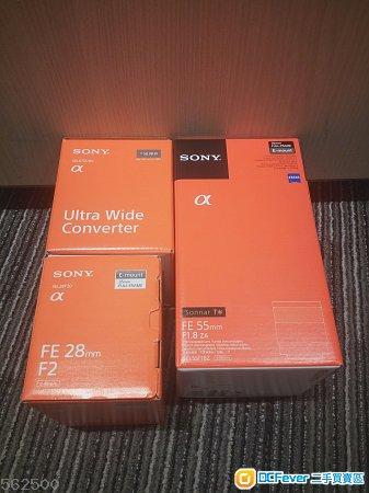 極新美品有保養 Sony SEL55F1.8Z , SEL28F20 , SEL075UWC