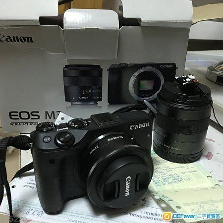 Canon EOS M3 kit鏡+99%新 22mm F2鏡 【一機兩頭平放】