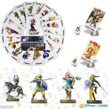 Nintendo Switch Amiibo Card Zelda & Mario Car 8 薩爾達 荒野之息/ 瑪莉奧賽車8