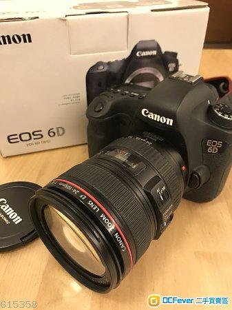Canon 6D + 24-105mm f/4 IS 70-200 f/4 17-40 f/4 YN600EX 99.5%新 近完美 100