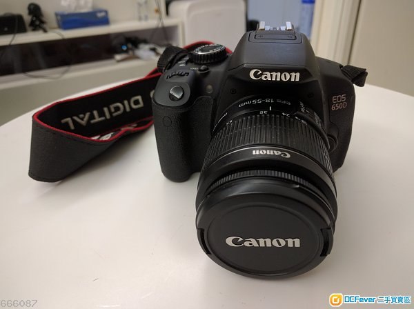 Canon EOS 650D body + EF-S 18-55mm lens