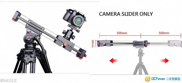 YELANGU Extenable Camera Track Dolly Slider Rail System DSLR