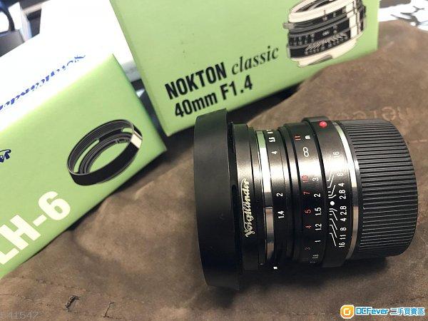 voigtlander 40mm f1.4 with hood ( vm 40 1.4 for leica sony fujifilm)