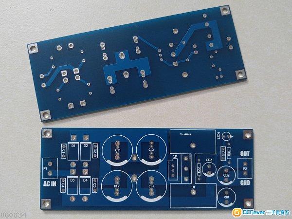 精品dc线性稳压电源板(稳压管可用lt1083 / lt1084)
