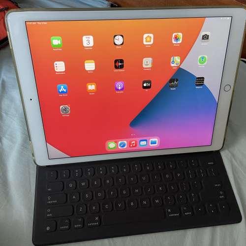 iPad Pro 12.9 WiFi 128G 第一代 (Gold 金色 ) 連 原廠AppleKeyboard ...