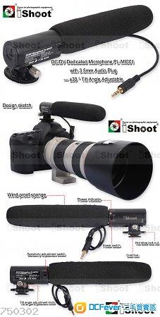 DC/DV 3.5mm photo MIC for Hot Shoe Digital SLR Camera/Video Cam