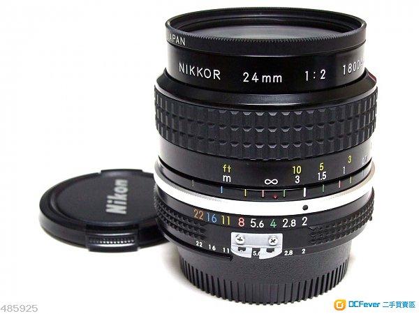 極新淨 Nikon Nikkor Ai 24mm F2 + Nikon L37c filter