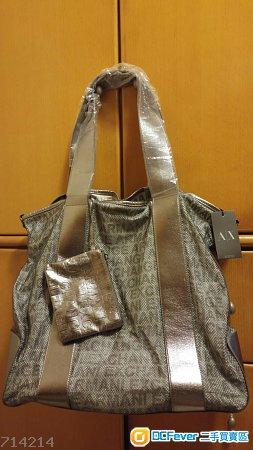 全新 Armani Exchange Gunmetal 網面袋(可肩袋或斜孭袋兩用)