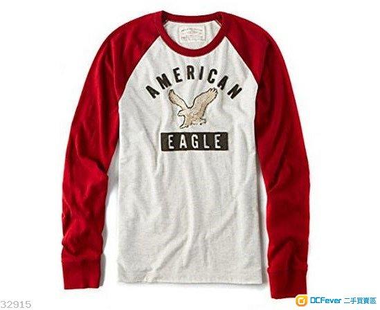 (全新) 男裝American Eagle AEO 長袖Vintage T-shirt原價$290 (Hollister Zara A&F)