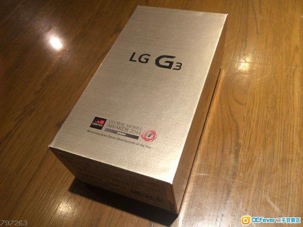 【全新未開封】LG G3 Dual Sim (32GB/3GB,金色,港版上台機,有單有保養,未開封)