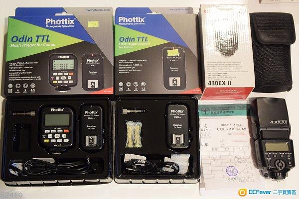 Phottix Odin TTL flash trigger + receiver for Canon. Canon 430EX II