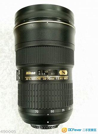 Nikon AF-S 24-70mm f/2.8G ED (Non VR) - 98%新, 行貨