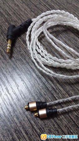 全新  MMCX 3.5mm  6n 銅鍍銀, 高級升級線 保用3個月 比ALO線更耐聽, Shure 等耳機合用