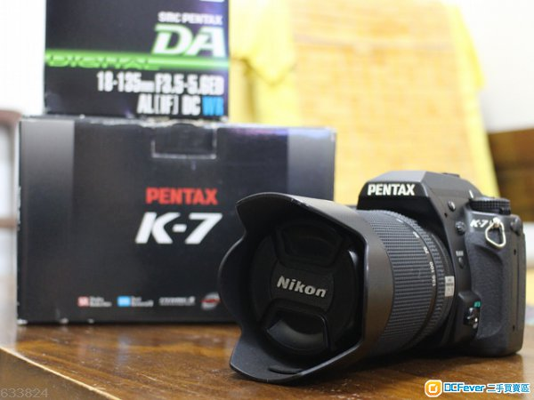 九成新黑色Pentax K7 +18-135mm F3.5-5.6 AL (IF) DC WR