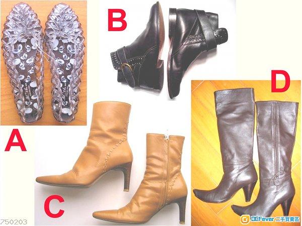 (A~D) 涼鞋及短/中/長靴
