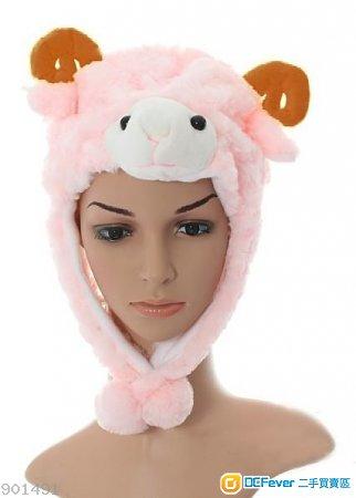 全新毛絨卡通羊帽子 生肖帽子 羊咩咩 公仔 小羊 小綿羊 白羊 保暖 舞臺道具 適合兒童/成人