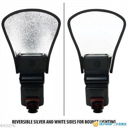 Silver White Flash Diffuser Softbox Reflector(閃光燈用:反光板)