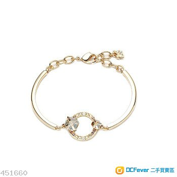 全新SWAROVSKI (施華洛世奇) GEOMETRIC金色魅影水晶手環