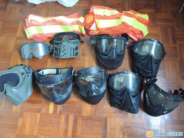 wargame 保護面𦋐13個 加二件螢光衣 全套賣