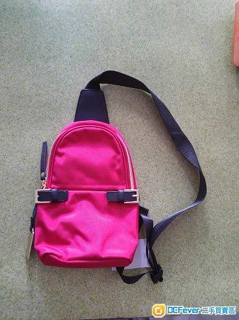 全新紅色斜孭袋