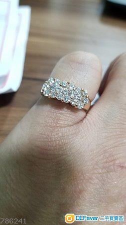 18K 攻塊金圓鑽石戒子15 號圈 ⛔不議價⛔
