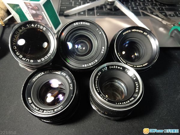 特價瑕疵手動鏡頭voigtlander 135mm f4/yashica50 1.7/konica50 1.7/tokina 25-50f4