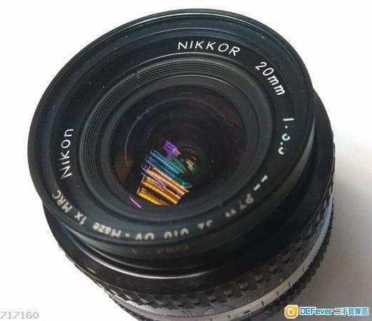 Nikon Nikkor 20mm f3.5 AIS手動鏡日本做