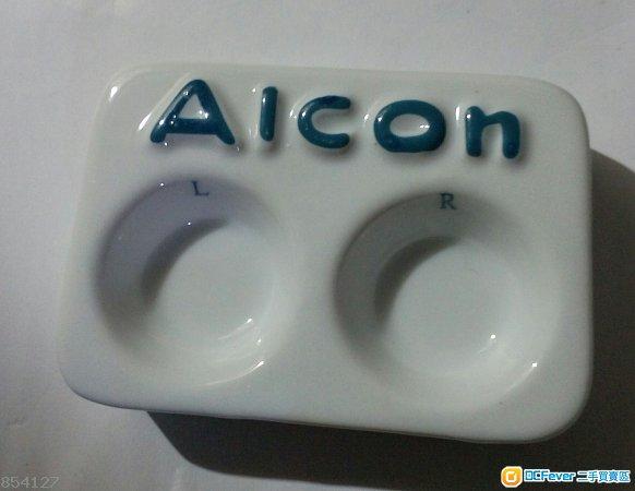 全新 Alcon 精美瓷隱形眼鏡清洗座 & 全新『藝視眼鏡』水晶隱形眼鏡盛戴器