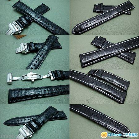 22mm錶帶 20mm錶帶 21mm錶帶 19mm錶帶 100%真鱷魚皮帶 凱門鱷魚 ROLEX TUDOR IWC OMEGA