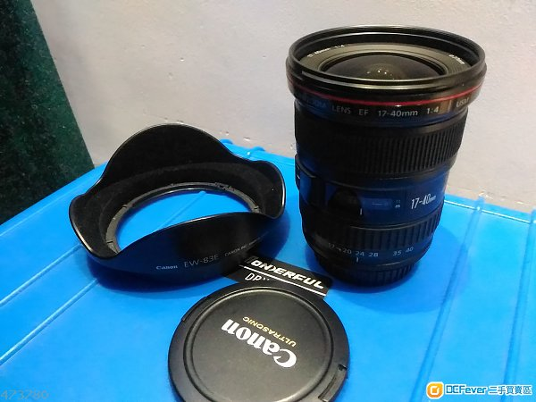 Canon EF 17-40mm F4L usm 連hood EW-83E, 77MM uv fiter