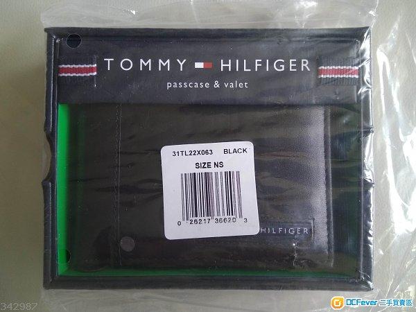 最後 原裝Tommy Hilfiger Mens Leather Passcase Billfold Wallet 100%真皮 銀包 禮物
