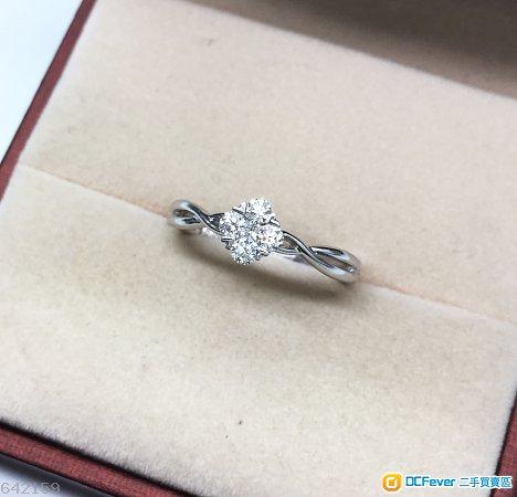 Mabelle 18K 0.20CT 鑽石戒指(11圈口) 已翻新