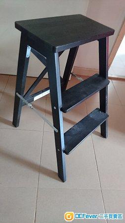 IKEA實木三層梯子