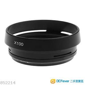 Fujifilm X100F 專用金屬遮光罩連接環 + UV濾鏡 + 金屬熱靴指柄 + 金屬快門按鈕