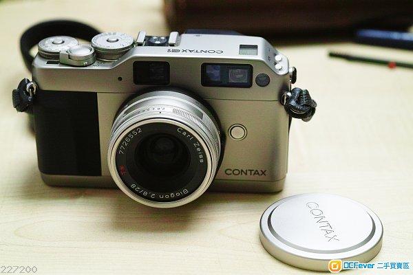 Contax G1 + G 45mm F2 Carl Zeiss Planar + 28mm f2.8 biogon T*
