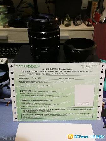 99% New Fujifilm XF18-55mm kit only