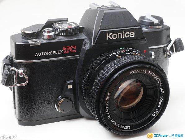 Konica Autoreflex TC連Hexanon AR 50/1.8鏡頭95新,相機測光準確,功能易用齊全,即買即用