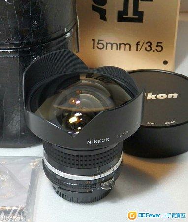 NIKON 15mm f3.5 Ais 手動對焦 超級廣角鏡王
